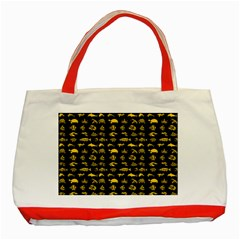 Fish pattern Classic Tote Bag (Red)