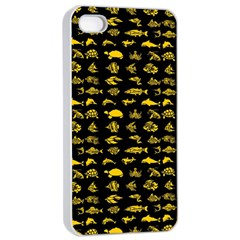 Fish pattern Apple iPhone 4/4s Seamless Case (White)