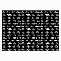 Fish pattern Large Glasses Cloth (2-Side)