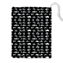 Fish pattern Drawstring Pouches (XXL)
