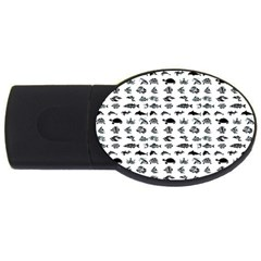 Fish pattern USB Flash Drive Oval (2 GB)
