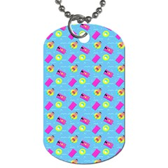 Summer pattern Dog Tag (One Side)