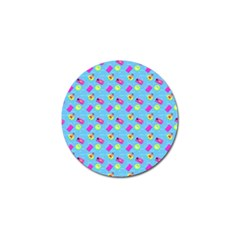 Summer pattern Golf Ball Marker (4 pack)