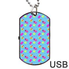 Summer pattern Dog Tag USB Flash (One Side)