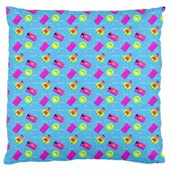Summer pattern Large Flano Cushion Case (Two Sides)