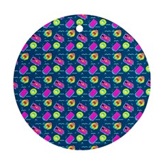 Summer pattern Round Ornament (Two Sides)