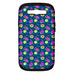 Summer pattern Samsung Galaxy S III Hardshell Case (PC+Silicone)
