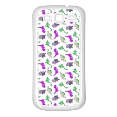 Dinosaurs pattern Samsung Galaxy S3 Back Case (White)