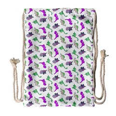 Dinosaurs pattern Drawstring Bag (Large)