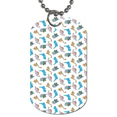 Dinosaurs pattern Dog Tag (Two Sides)