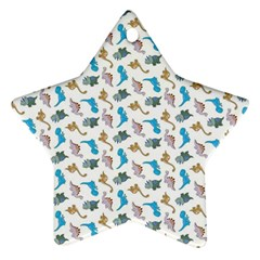 Dinosaurs pattern Star Ornament (Two Sides)