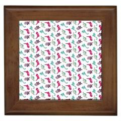 Dinosaurs pattern Framed Tiles