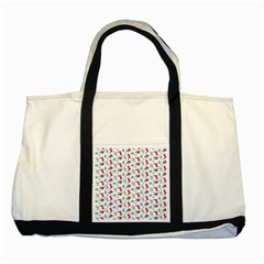 Dinosaurs pattern Two Tone Tote Bag