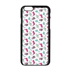Dinosaurs pattern Apple iPhone 6/6S Black Enamel Case
