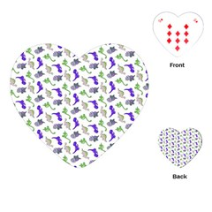 Dinosaurs pattern Playing Cards (Heart)