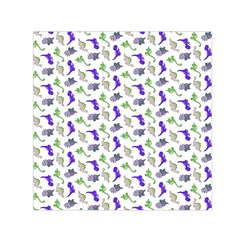 Dinosaurs pattern Small Satin Scarf (Square)