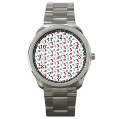 Dinosaurs pattern Sport Metal Watch