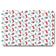 Dinosaurs pattern Large Doormat