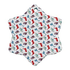 Dinosaurs pattern Snowflake Ornament (Two Sides)