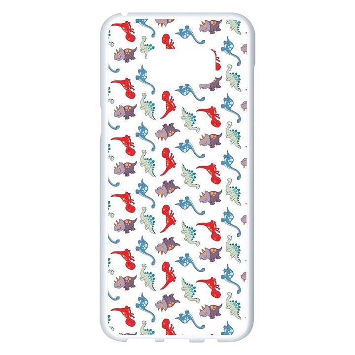 Dinosaurs pattern Samsung Galaxy S8 Plus White Seamless Case