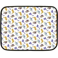Dinosaurs pattern Double Sided Fleece Blanket (Mini)