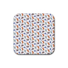 Dinosaurs pattern Rubber Coaster (Square)
