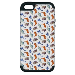 Dinosaurs pattern Apple iPhone 5 Hardshell Case (PC+Silicone)