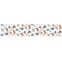 Dinosaurs pattern Flano Scarf (Large)