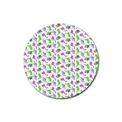 Dinosaurs pattern Rubber Round Coaster (4 pack)