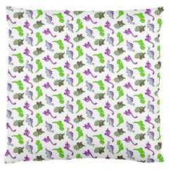 Dinosaurs pattern Large Flano Cushion Case (One Side)