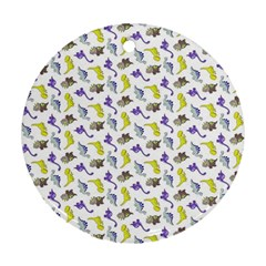 Dinosaurs pattern Ornament (Round)