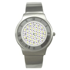 Dinosaurs pattern Stainless Steel Watch