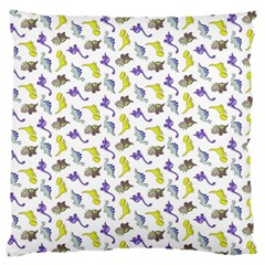 Dinosaurs pattern Standard Flano Cushion Case (One Side)