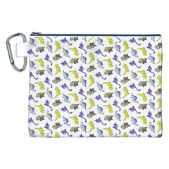 Dinosaurs pattern Canvas Cosmetic Bag (XXL)