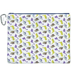 Dinosaurs pattern Canvas Cosmetic Bag (XXXL)