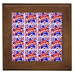 Happy 4th Of July Theme Pattern Framed Tiles