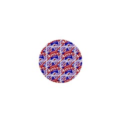 Happy 4th Of July Theme Pattern 1  Mini Buttons