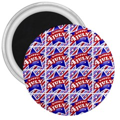 Happy 4th Of July Theme Pattern 3  Magnets