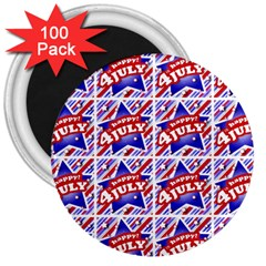 Happy 4th Of July Theme Pattern 3  Magnets (100 pack)