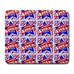 Happy 4th Of July Theme Pattern Large Mousepads