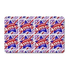 Happy 4th Of July Theme Pattern Magnet (Rectangular)