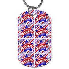 Happy 4th Of July Theme Pattern Dog Tag (One Side)