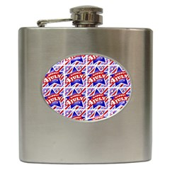Happy 4th Of July Theme Pattern Hip Flask (6 oz)