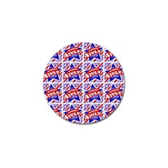 Happy 4th Of July Theme Pattern Golf Ball Marker