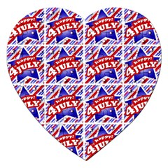 Happy 4th Of July Theme Pattern Jigsaw Puzzle (Heart)