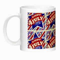 Happy 4th Of July Theme Pattern Night Luminous Mugs