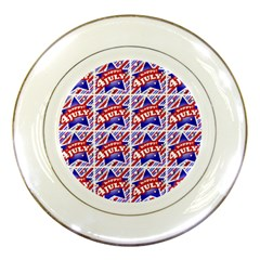 Happy 4th Of July Theme Pattern Porcelain Plates