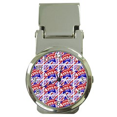 Happy 4th Of July Theme Pattern Money Clip Watches