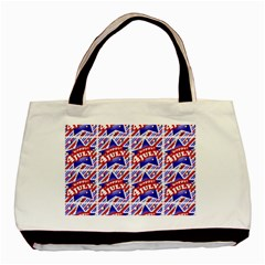Happy 4th Of July Theme Pattern Basic Tote Bag