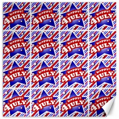 Happy 4th Of July Theme Pattern Canvas 16  x 16